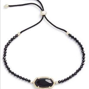 Adjustable Eliana bracelet in black